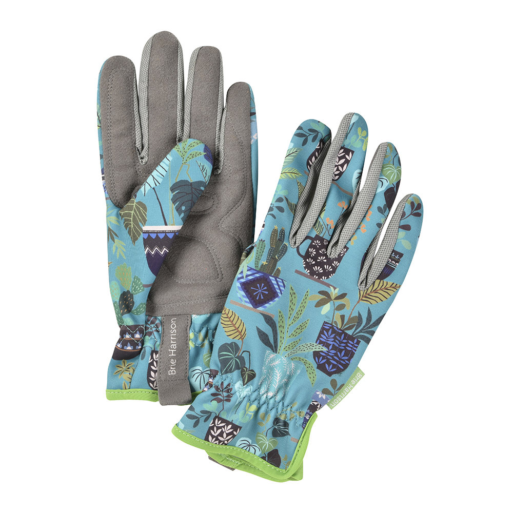 Burgon  Ball - Brie Harrison Gardening Gloves - Blue