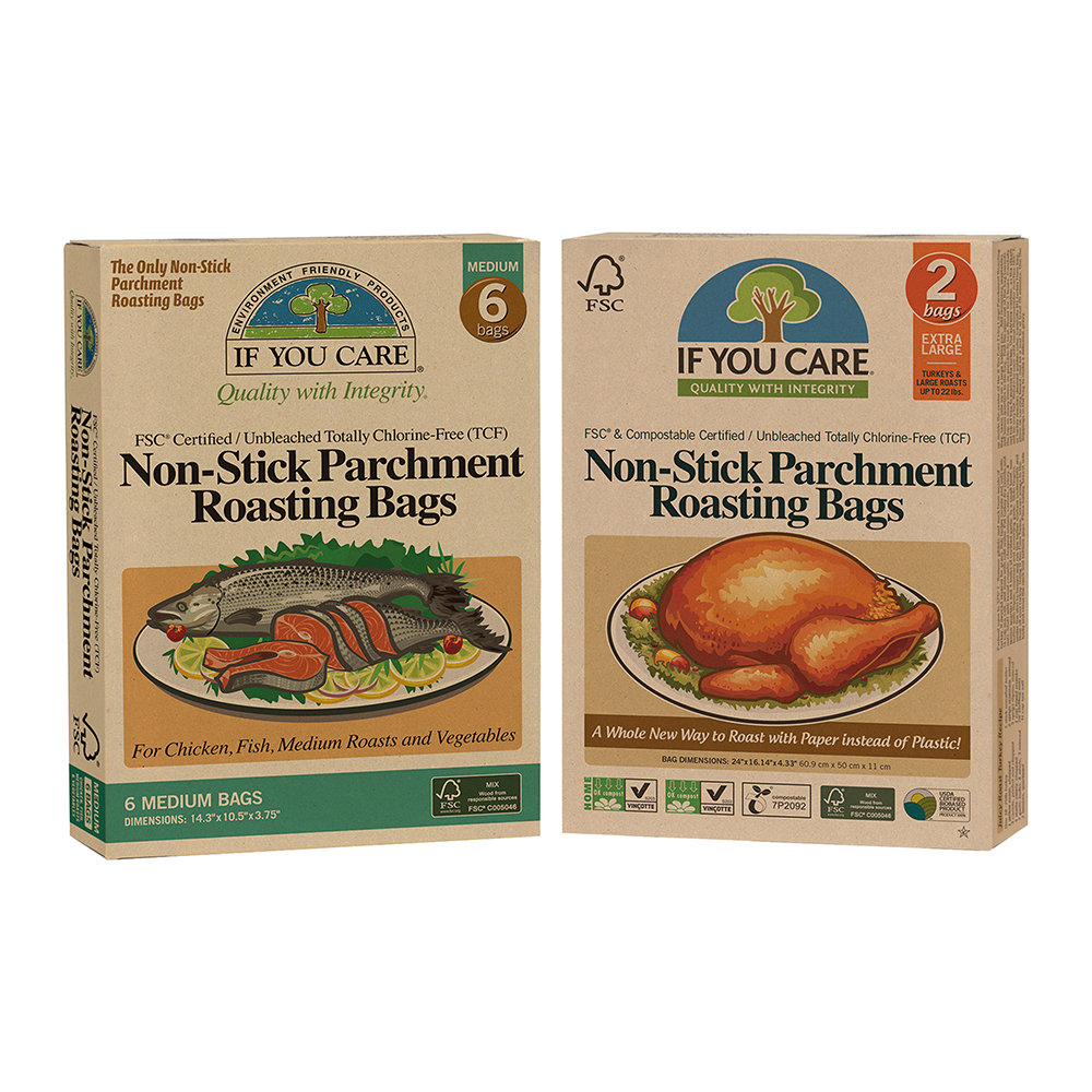 If You Care - Non-Stick Parchment Roasting Bags Set