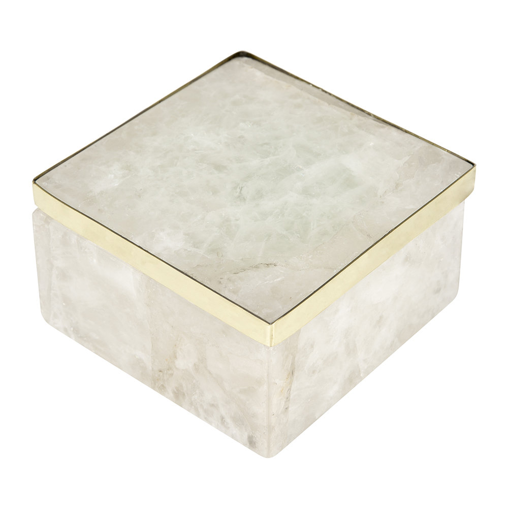 A by AMARA - Quartz Trinket Box - White