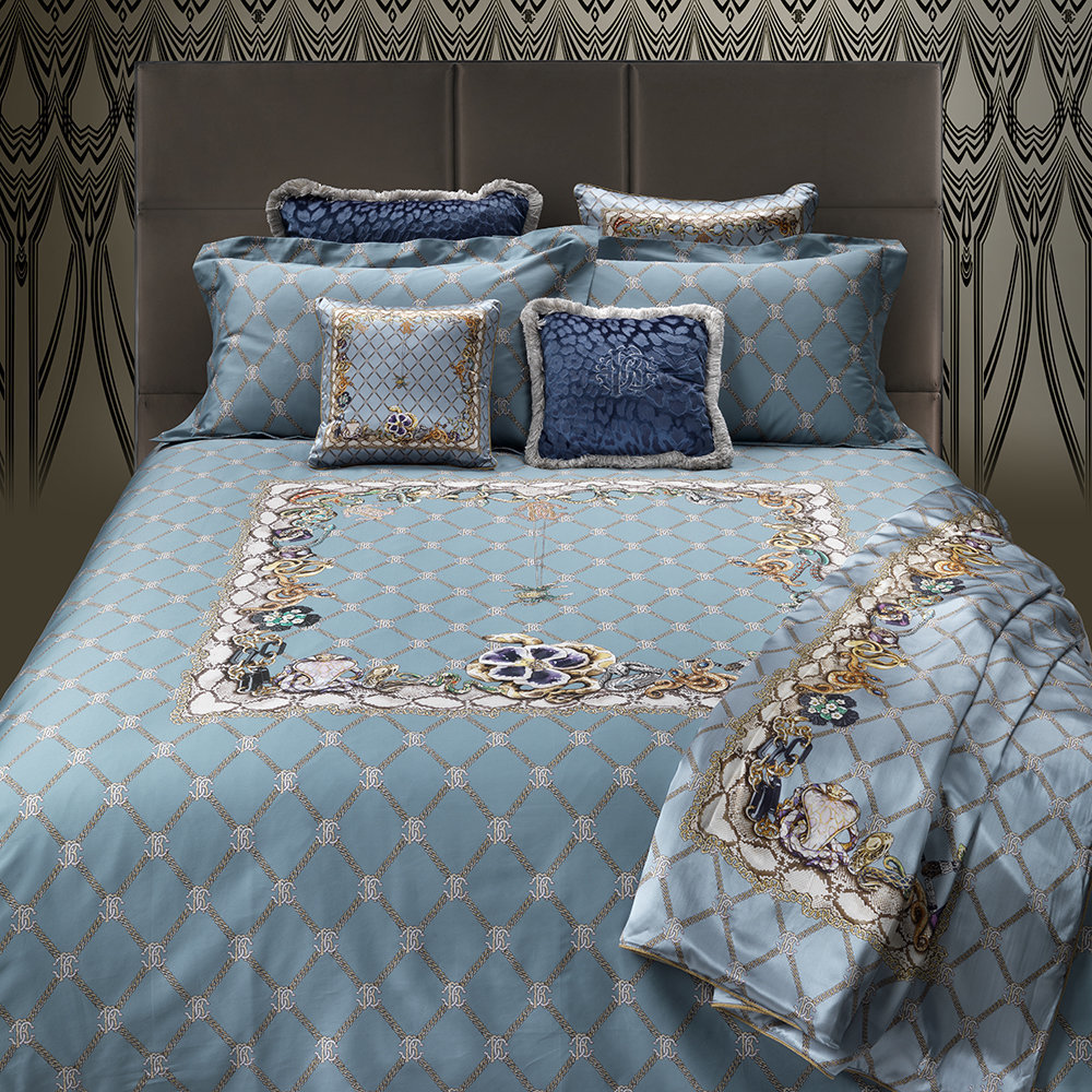 Roberto Cavalli - New Spider Silk Throw - 130x180cm - Light Blue