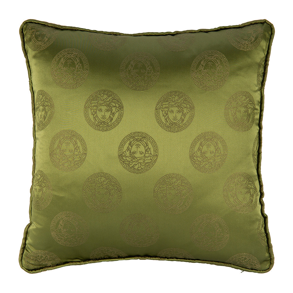 Versace Home - Medusa Royale Silk Pillow - 45x45cm - Green