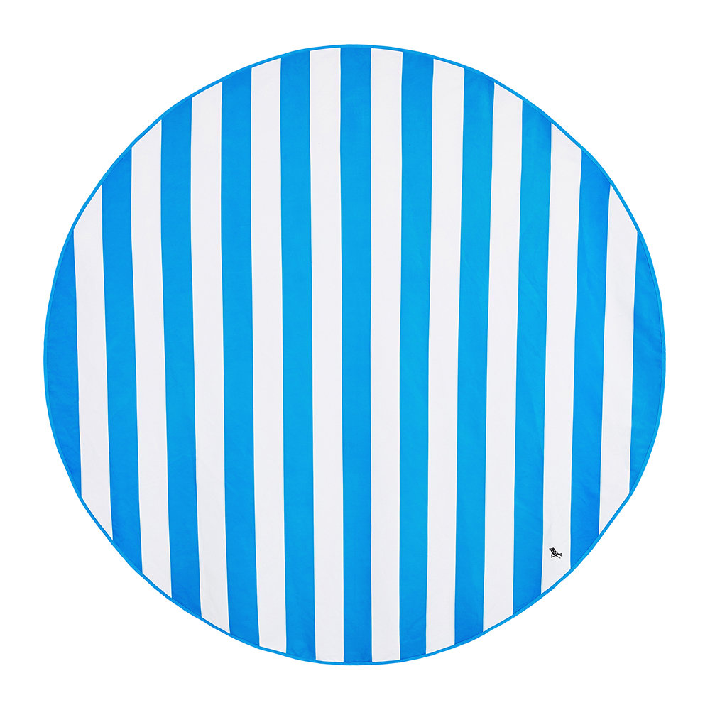 Dock  Bay - Cabana Round Beach Towel - Bondi Blue
