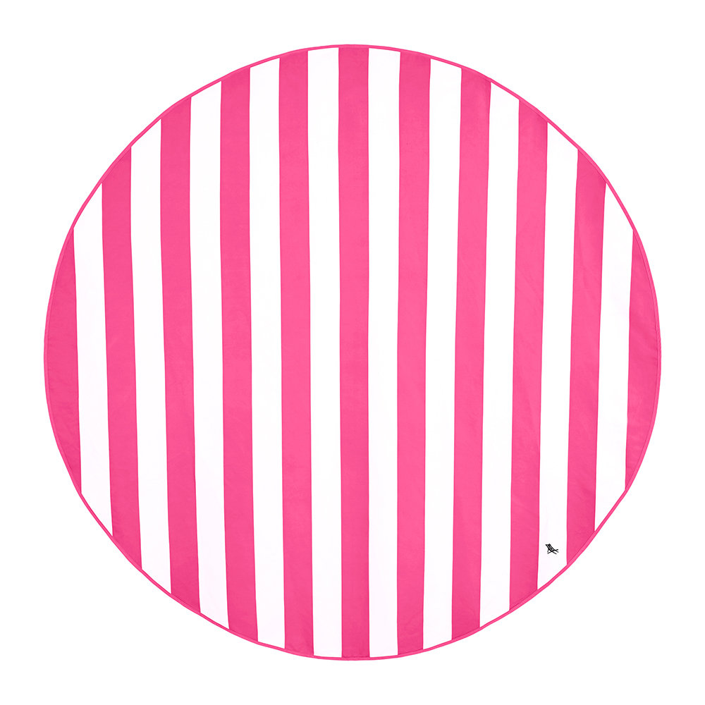 Dock  Bay - Cabana Round Beach Towel - Phi Phi Pink