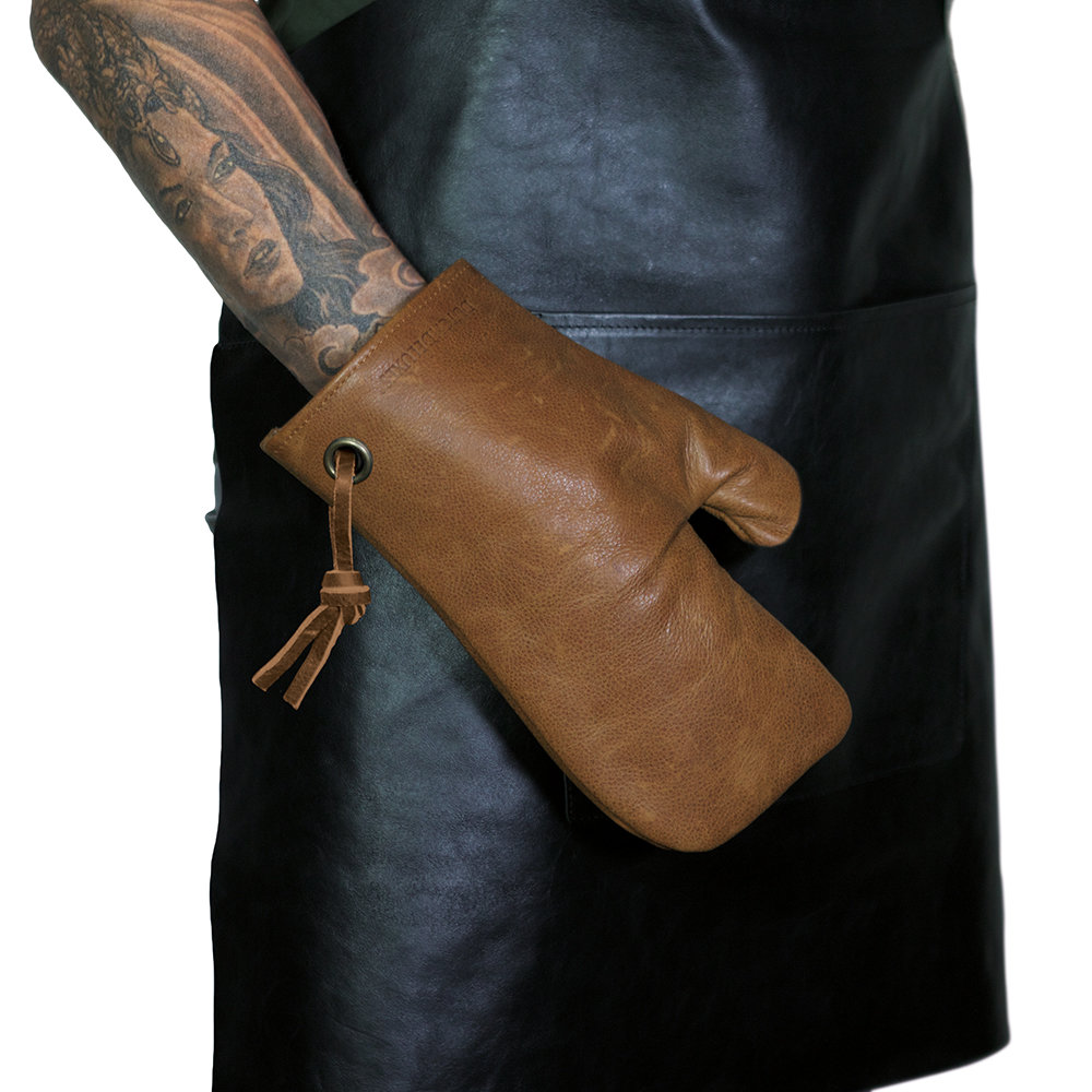 DutchDeluxes - Leather Oven Glove - Vintage Camel