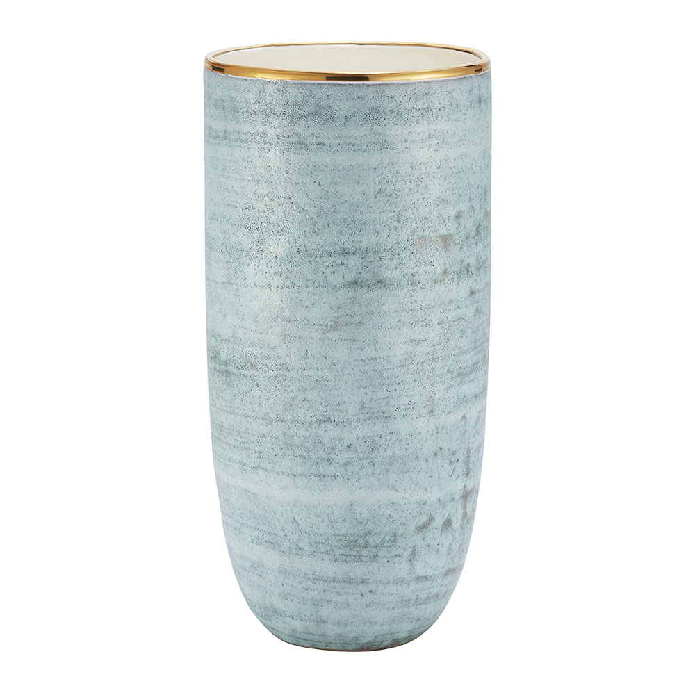 AERIN - Calinda Tall Vase - Blue Grotto