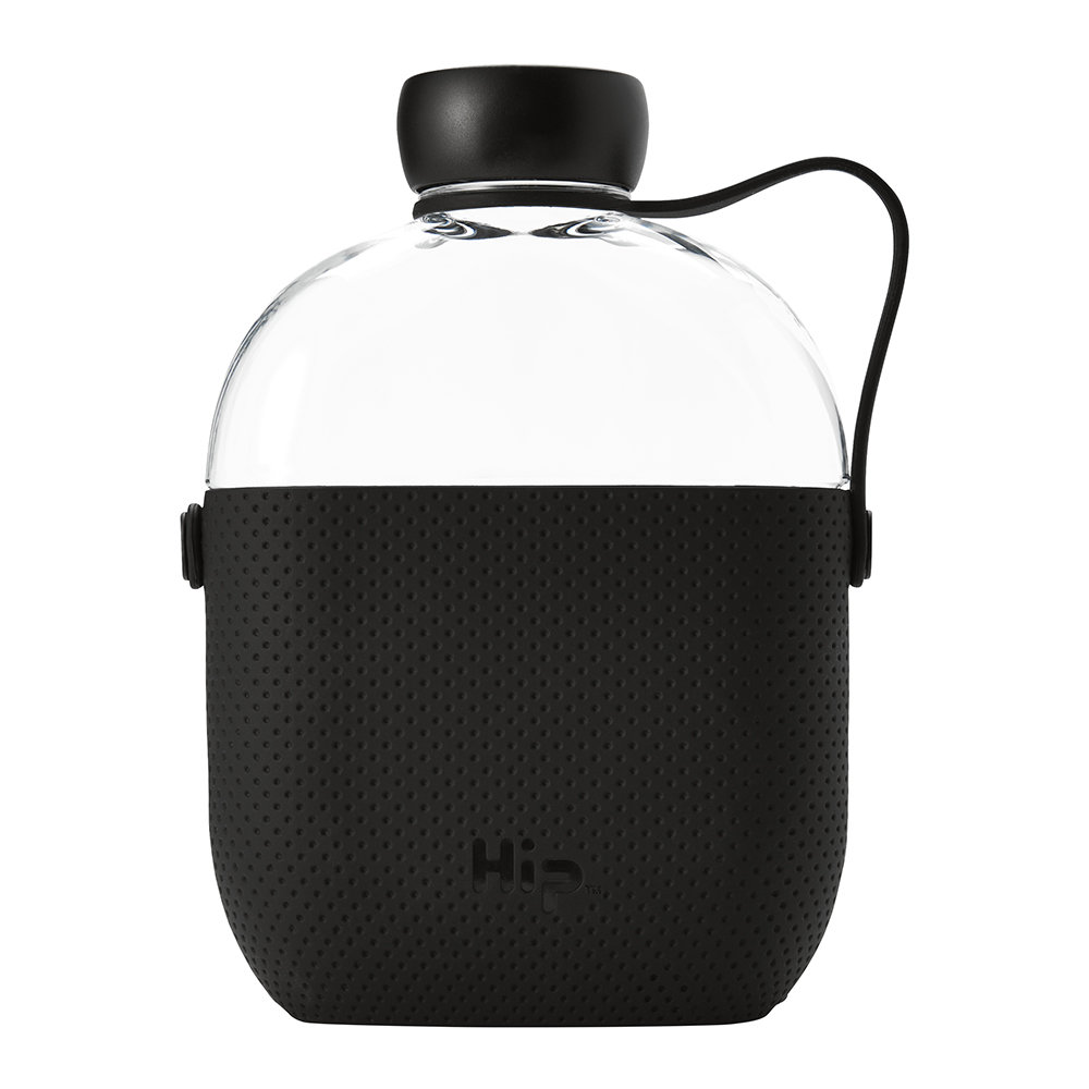 Hip - Reusable Bottle with Silicone Sleeve - 650ml - Midnight
