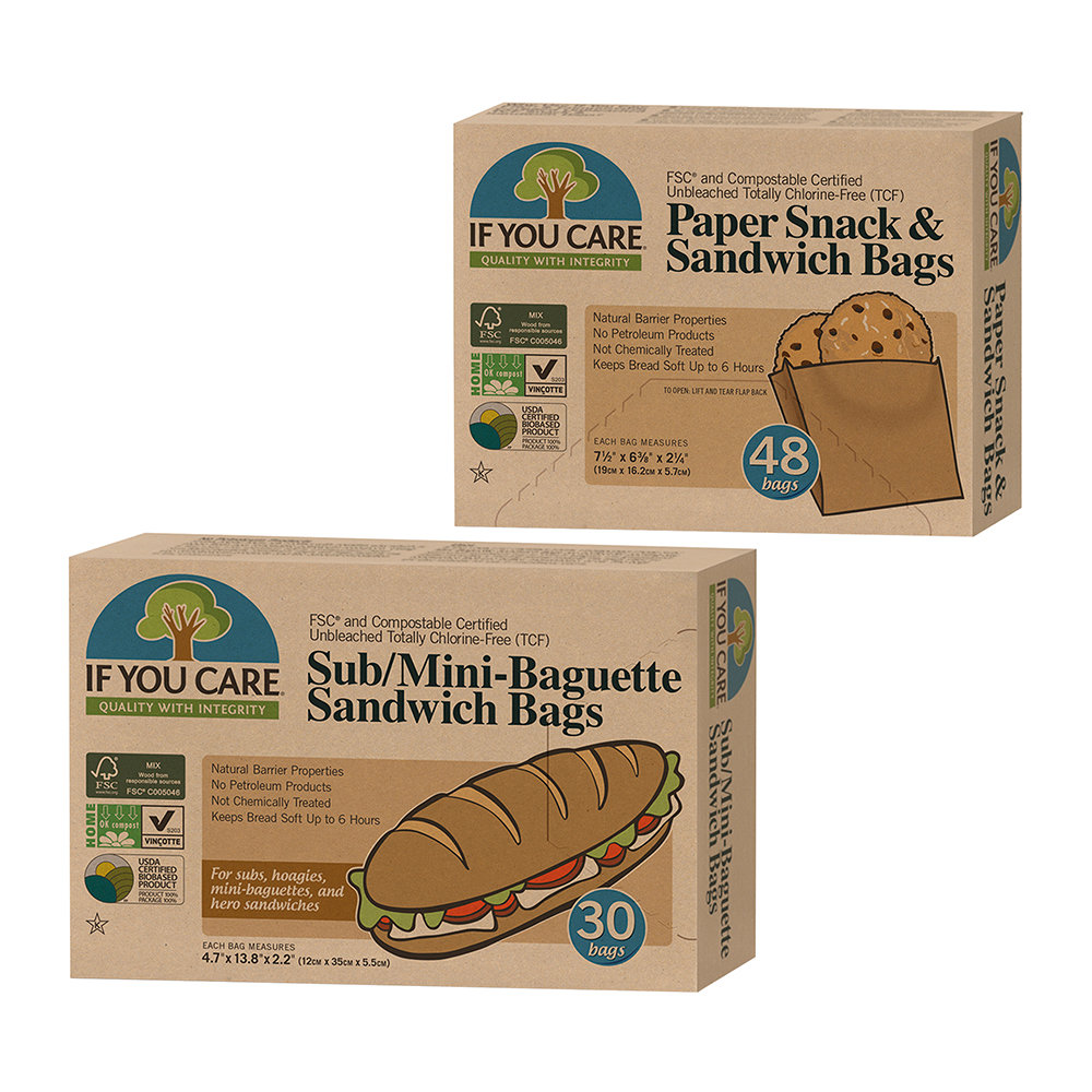 If You Care - Mini Baguette  Sandwich Bags Set