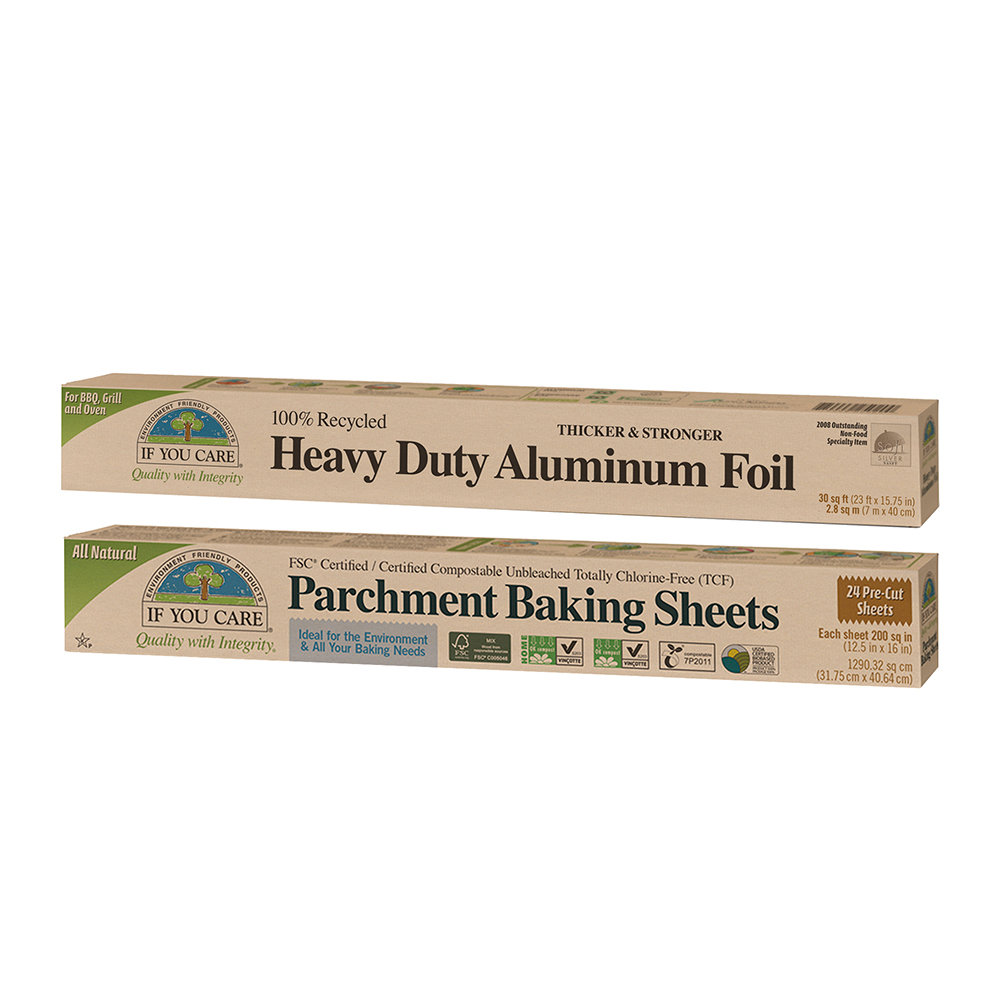 If You Care - Baking Parchment  Recycled Aluminium Foil Set