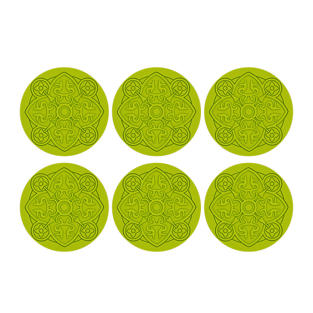 Images d'Orient - Round Urban 01 Coaster - Set of 6 - Anis