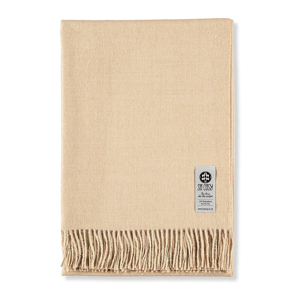 So Cosy - Emma Baby Alpaca Wool Throw - 130x200cm - Beige