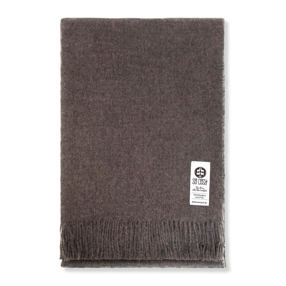 So Cosy - Emma Baby Alpaca Wool Throw - 130x200cm - Mocha