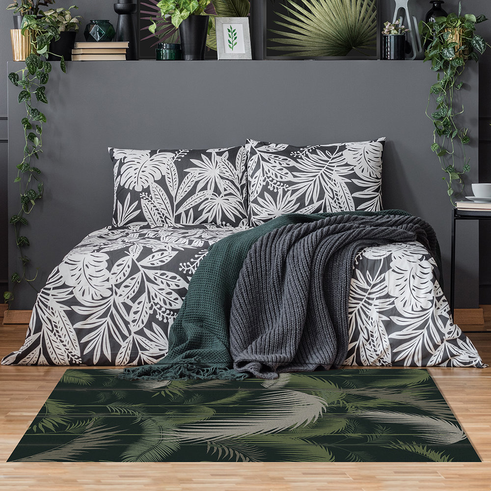 BEAUMONT - Tapis de Sol en Vinyle Rectangle Tropical Aloha - Petit
