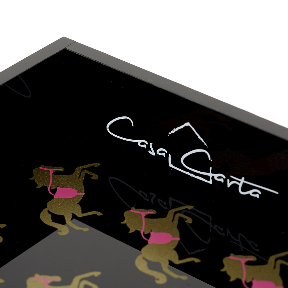 casacarta - Gold and Pink Horses Tray