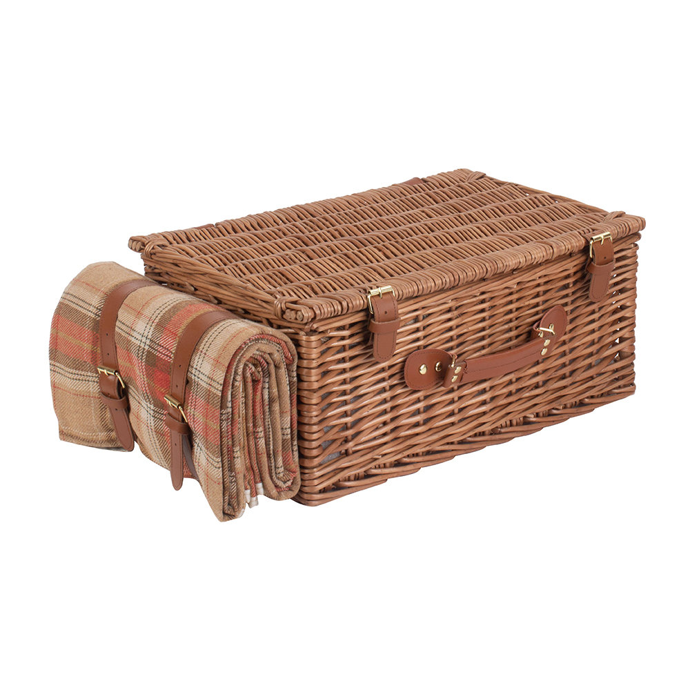 A by AMARA - Autumn Red Tartan Hamper - 4 Person