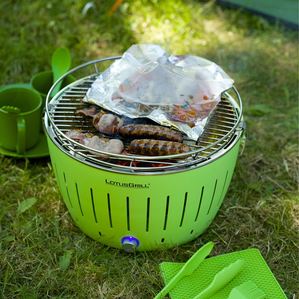 Lotus Grill - Portable Charcoal Grill - Green