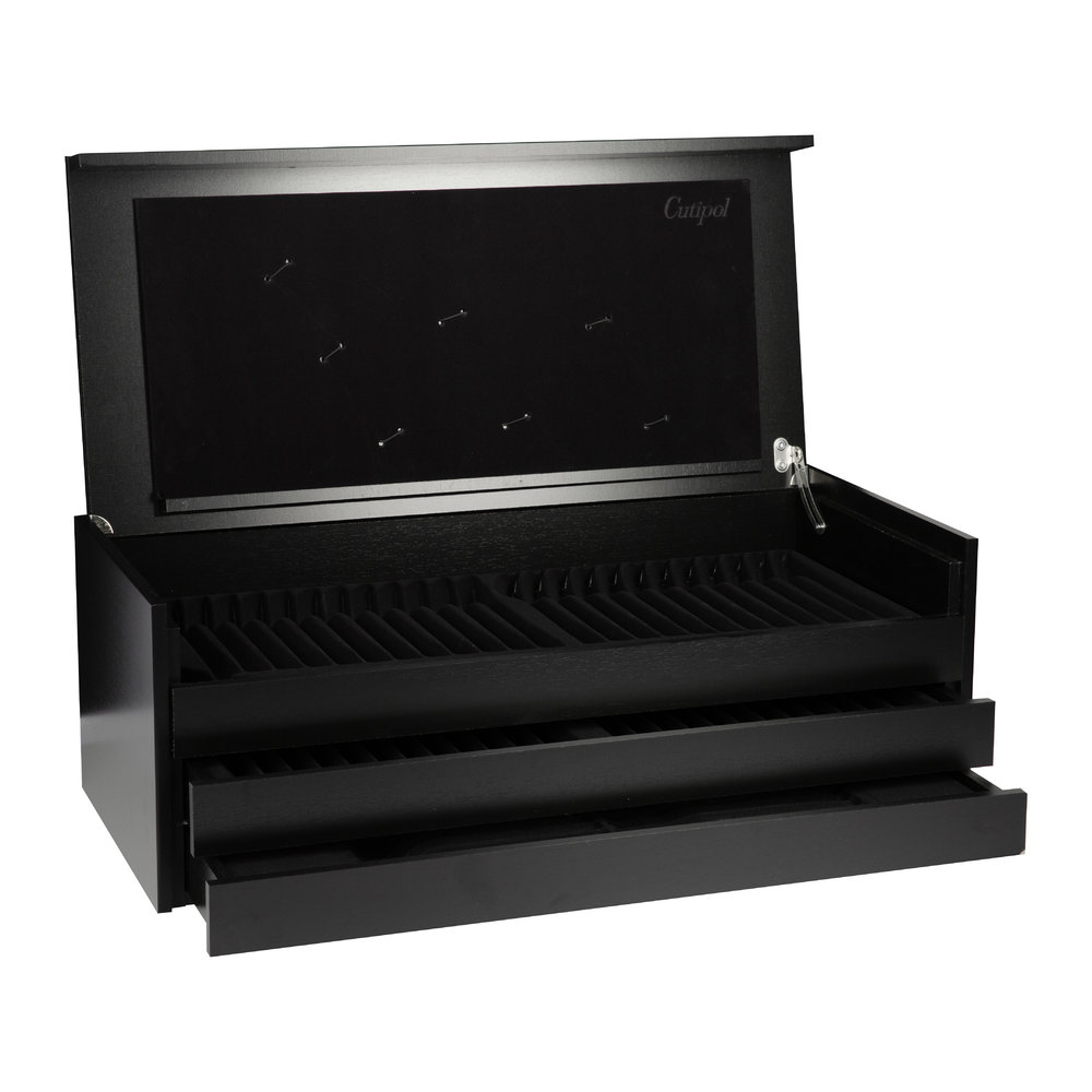 Cutipol - 75 Piece Cutlery Set Presentation Box - Black/Black