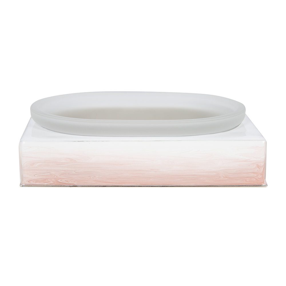 Mike Ally Ombre Soap Dish Pink