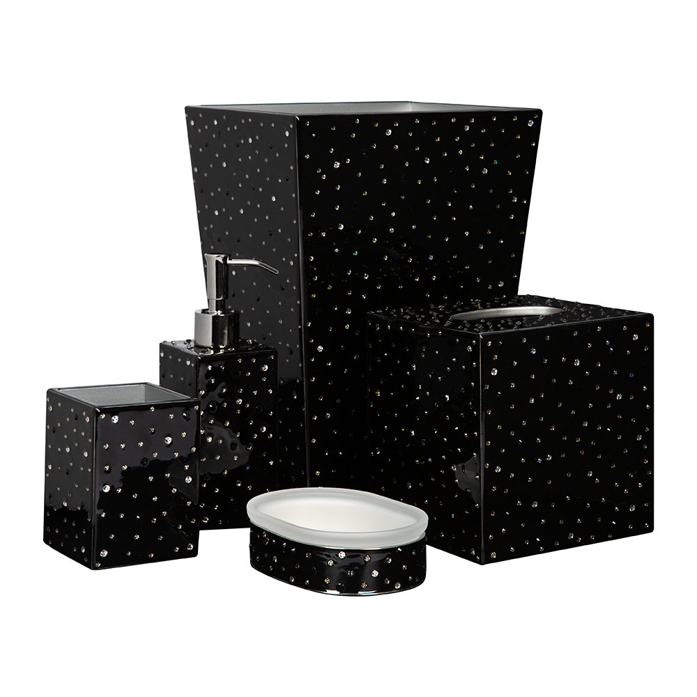 Mike + Ally - Stardust Soap Dish - Black/Silver