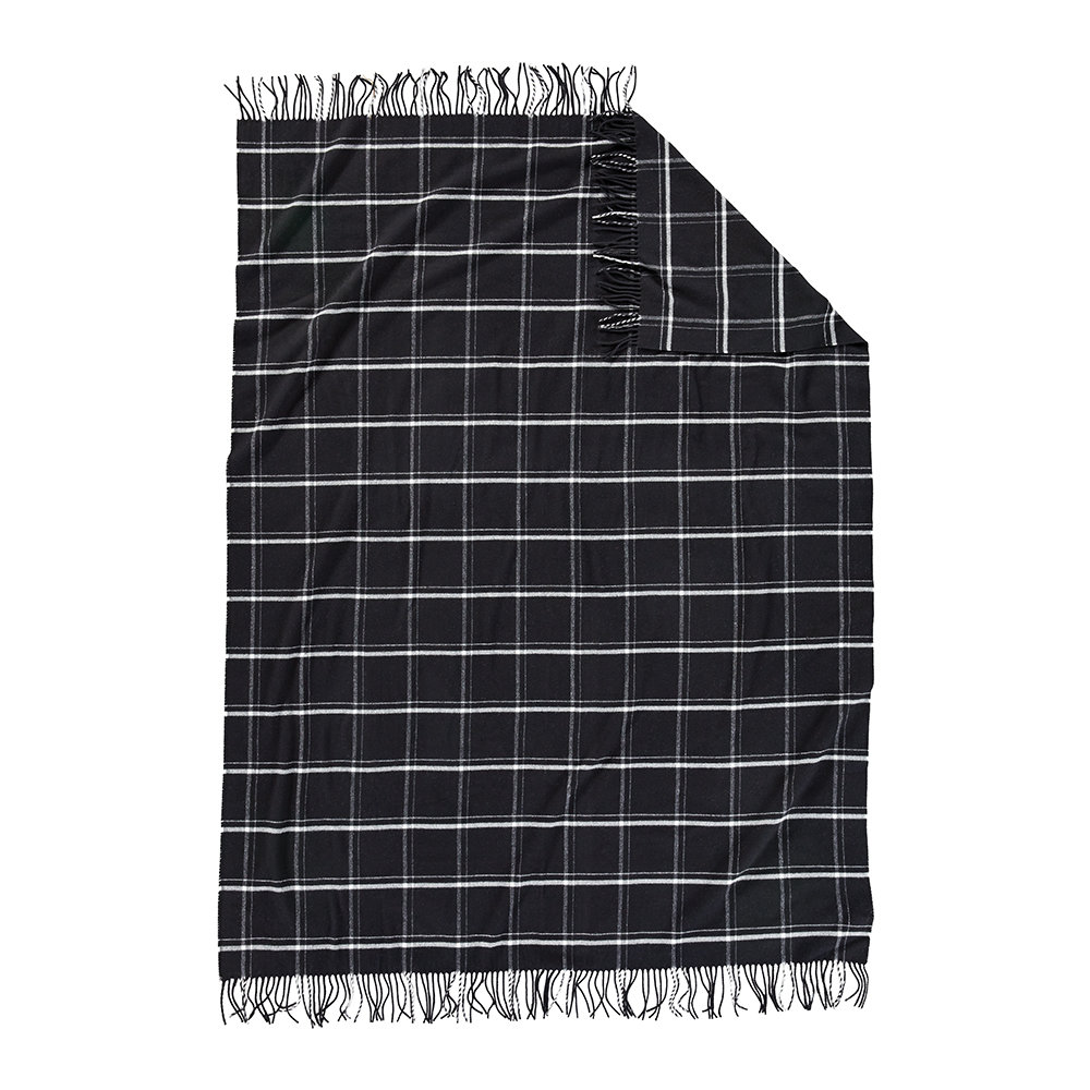 Pendleton - 5th Avenue Throw - Black Windowpane