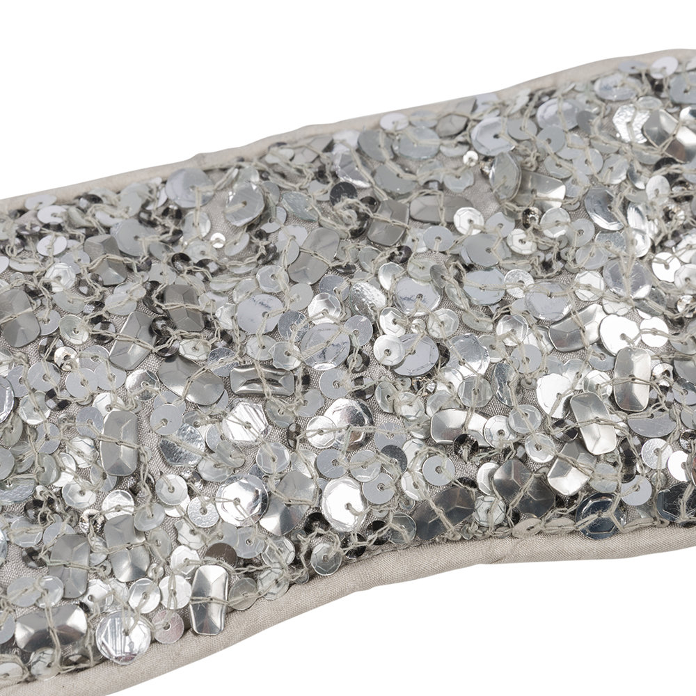 A by Amara - Sequin Eye Mask - Silver