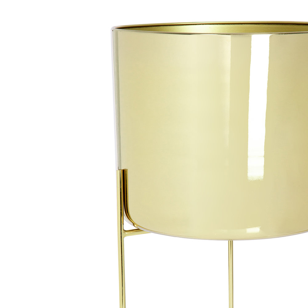 A by AMARA - Raised Gold Planter - Short