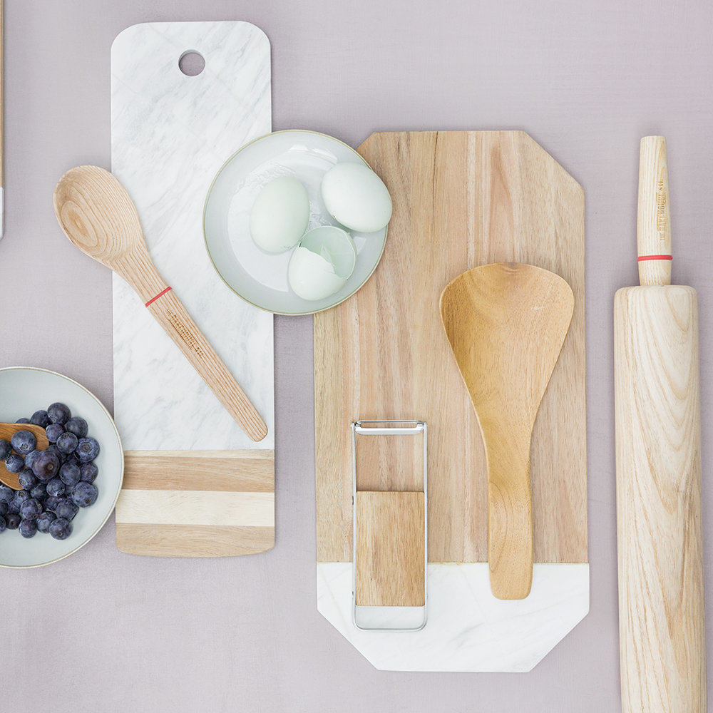 The Kitchen Pantry - Acacia & Marble Serving Board - Rectangle