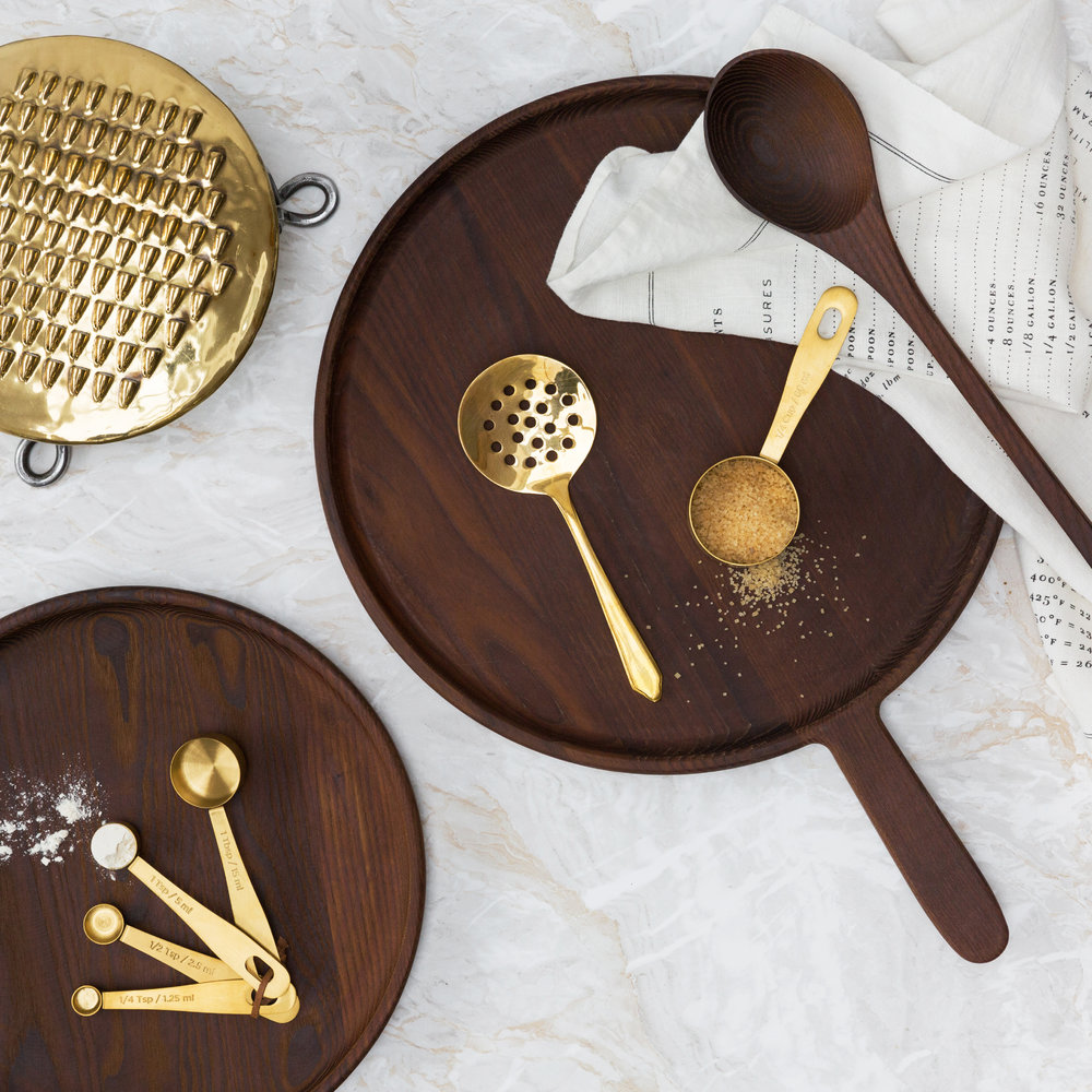 The Kitchen Pantry - Brass Measuring Cups - Set of 4