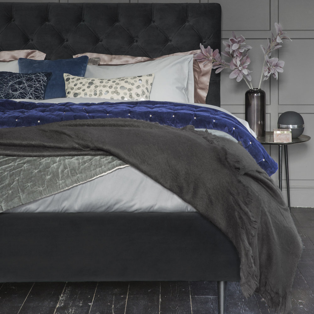 A by AMARA - Egyptian Cotton Duvet Cover - Silver - King