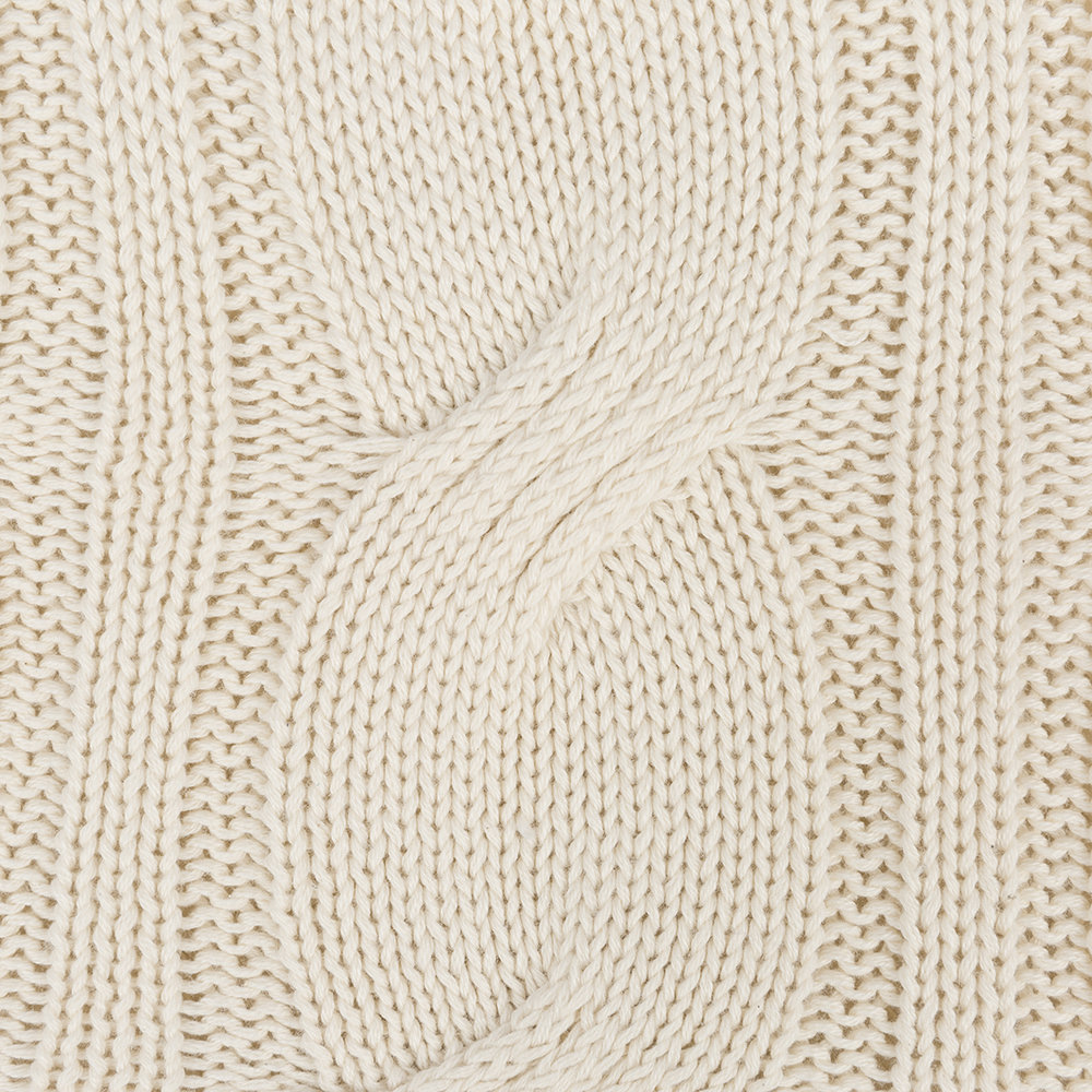 A by AMARA - Cable Knit Hot Water Bottle - Cream