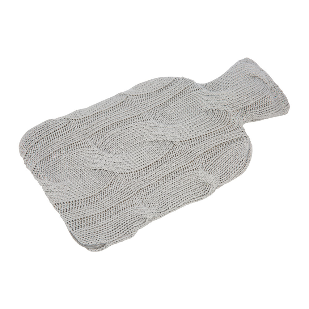 A by AMARA - Cable Knit Hot Water Bottle - Dark Grey