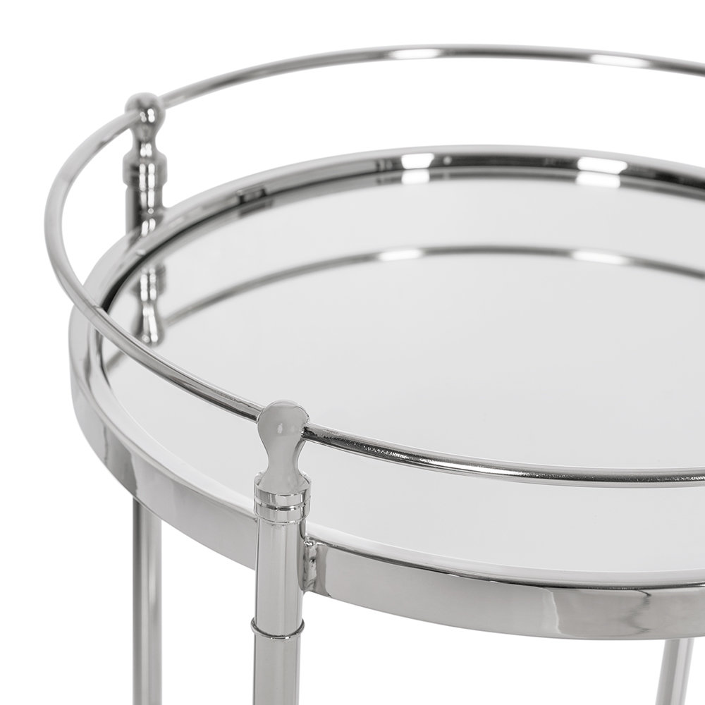 Round Mirror Side Table