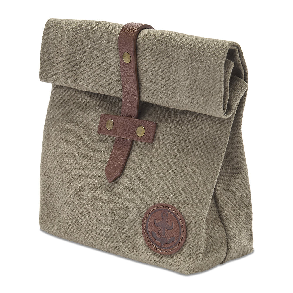 Waxed Canvas Roll Down Ditty Bag