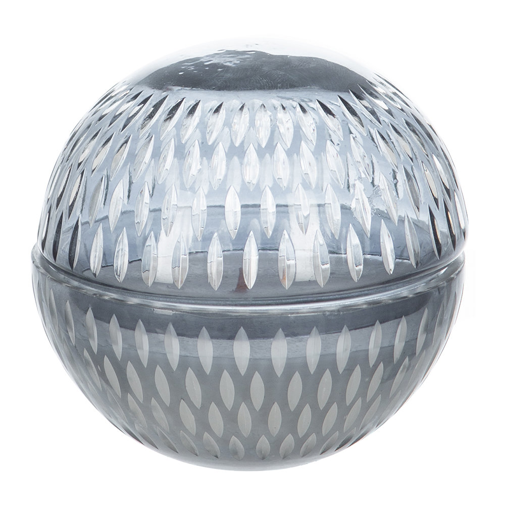 A by AMARA - Cut Glass Ball Scented Candle - Grey