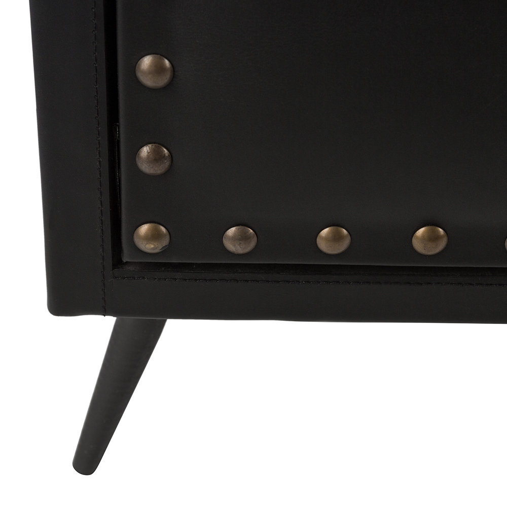 Luxe - Leather Studded Drawers - Black
