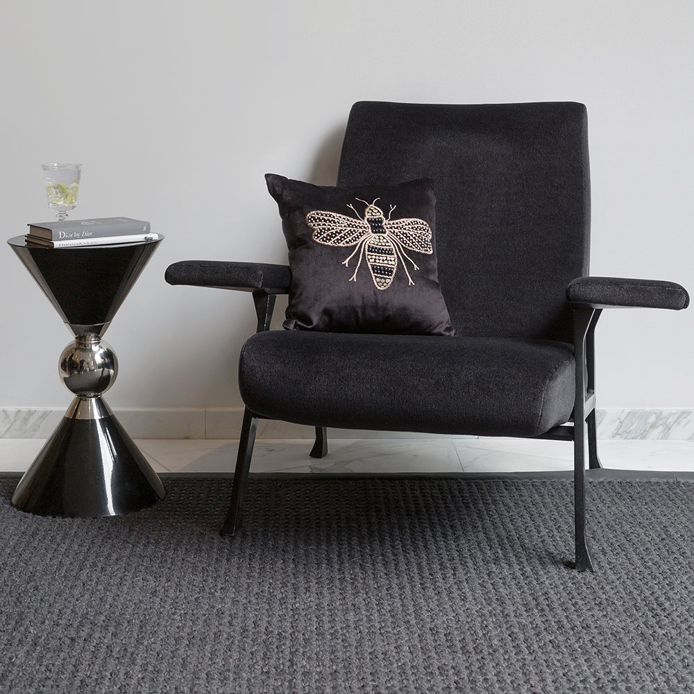 Luxe - Hourglass Stool - Black