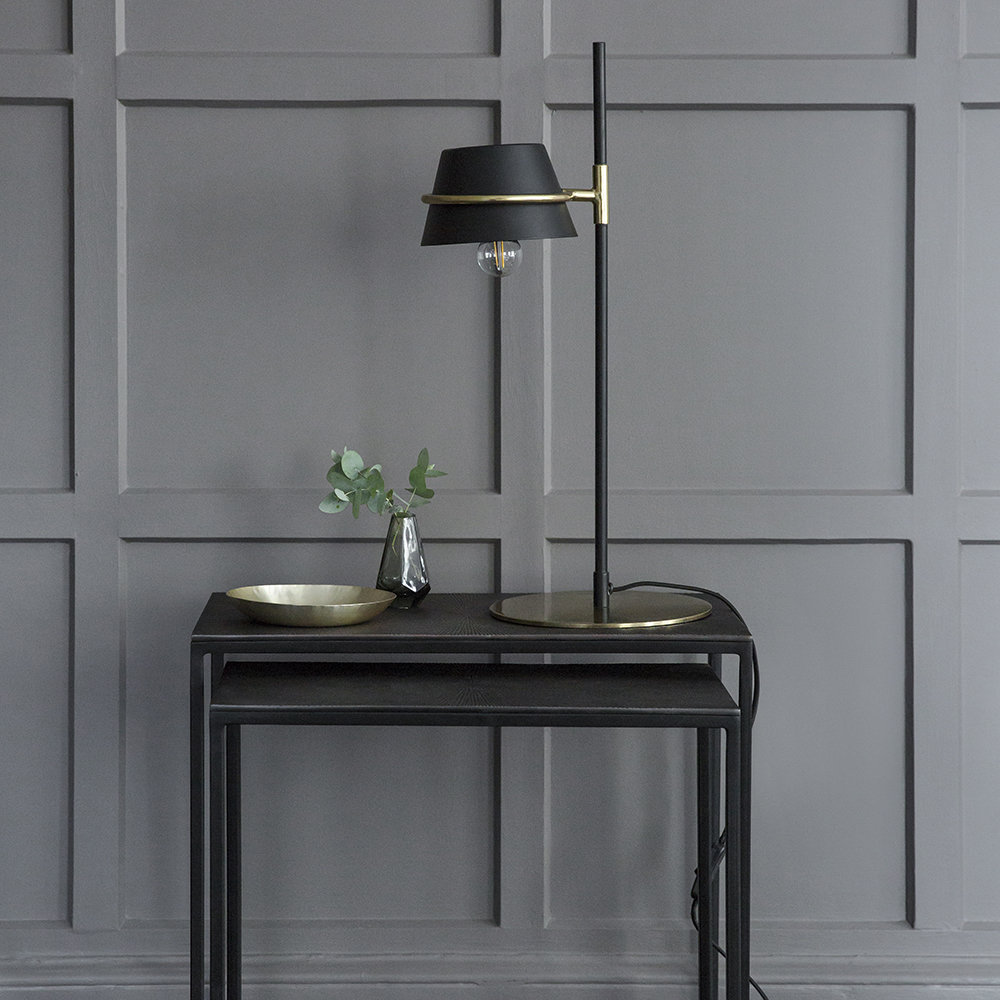 A by AMARA - Black & Gold Table Lamp