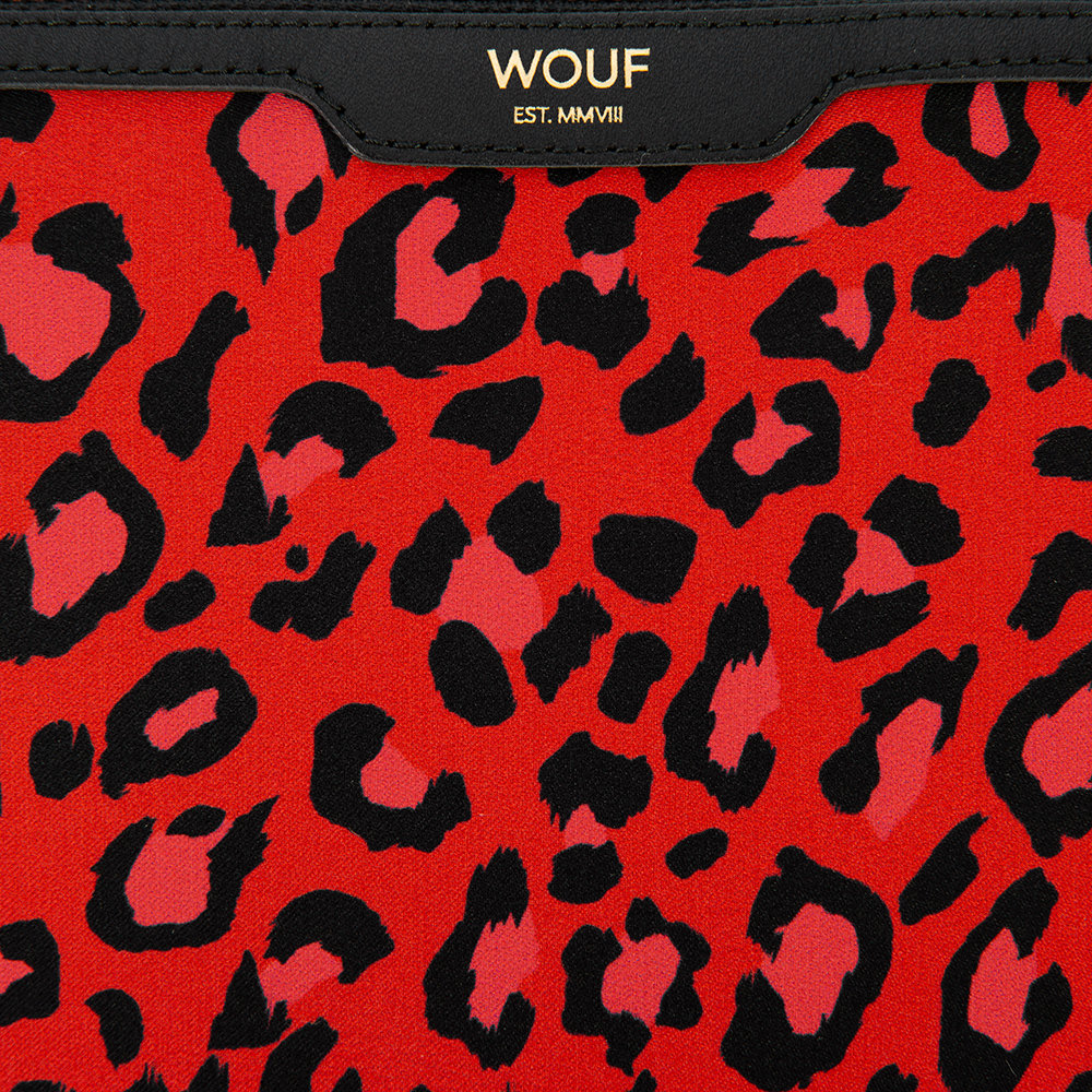 Wouf - Red Leopard Satin Ipad Case