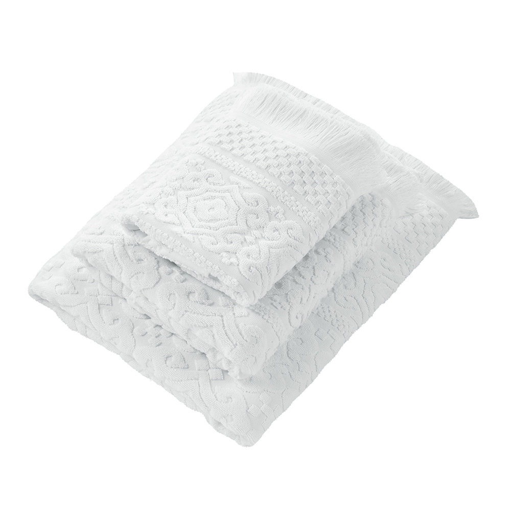 Marinette Saint Tropez - Astone Towel - White - Hand Towel