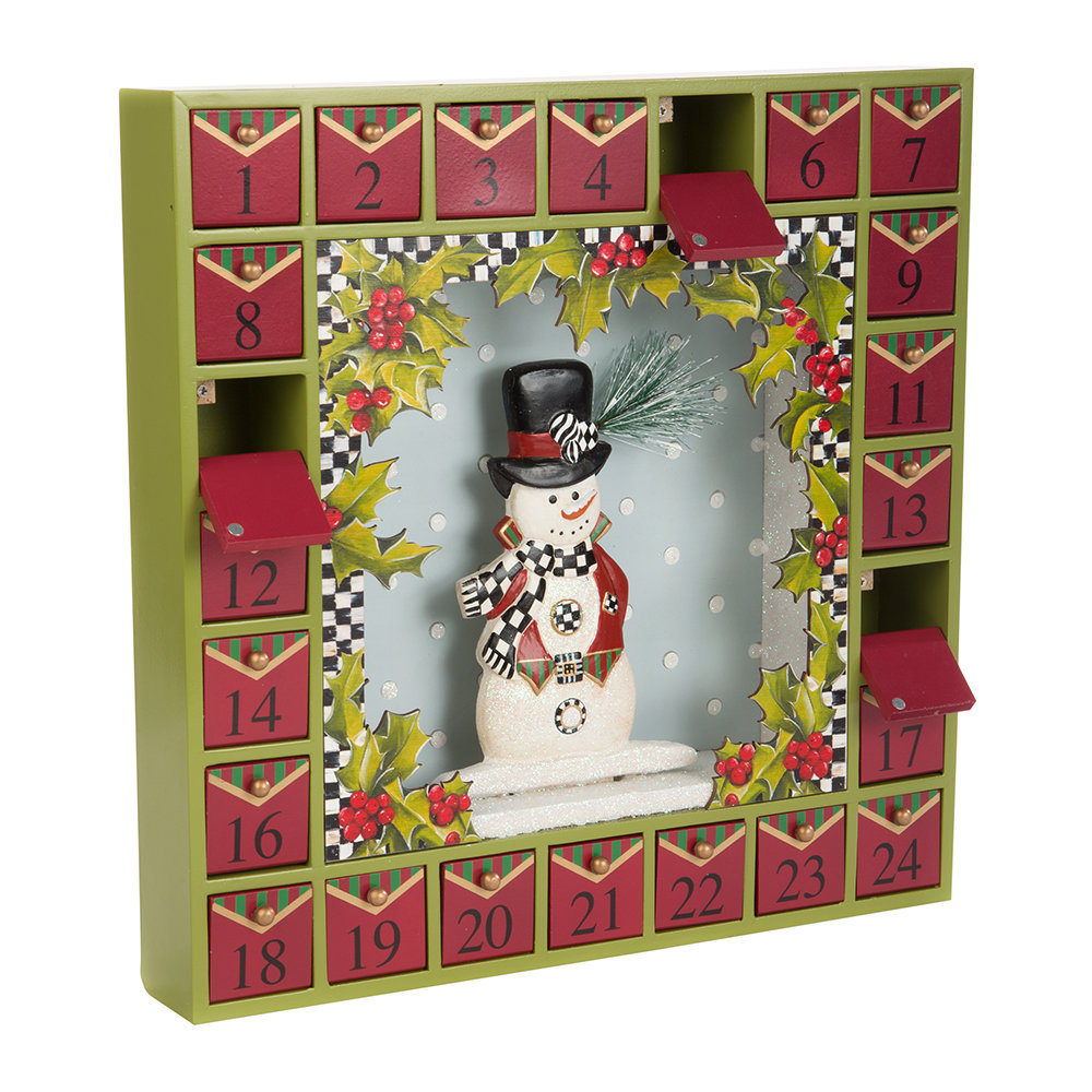 MacKenzie-Childs - Snowman Advent Calendar