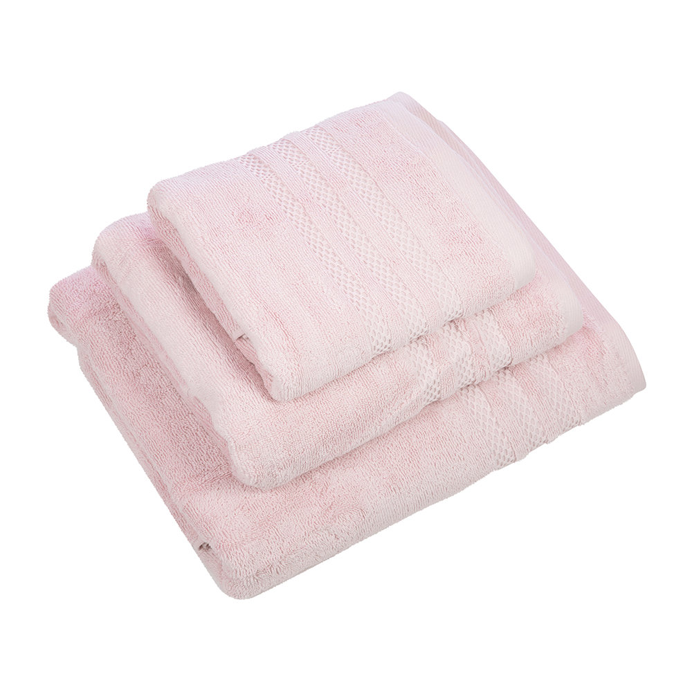 A by Amara - Egyptian Cotton Towel - Blush Pink - Face Cloths - Set of 3