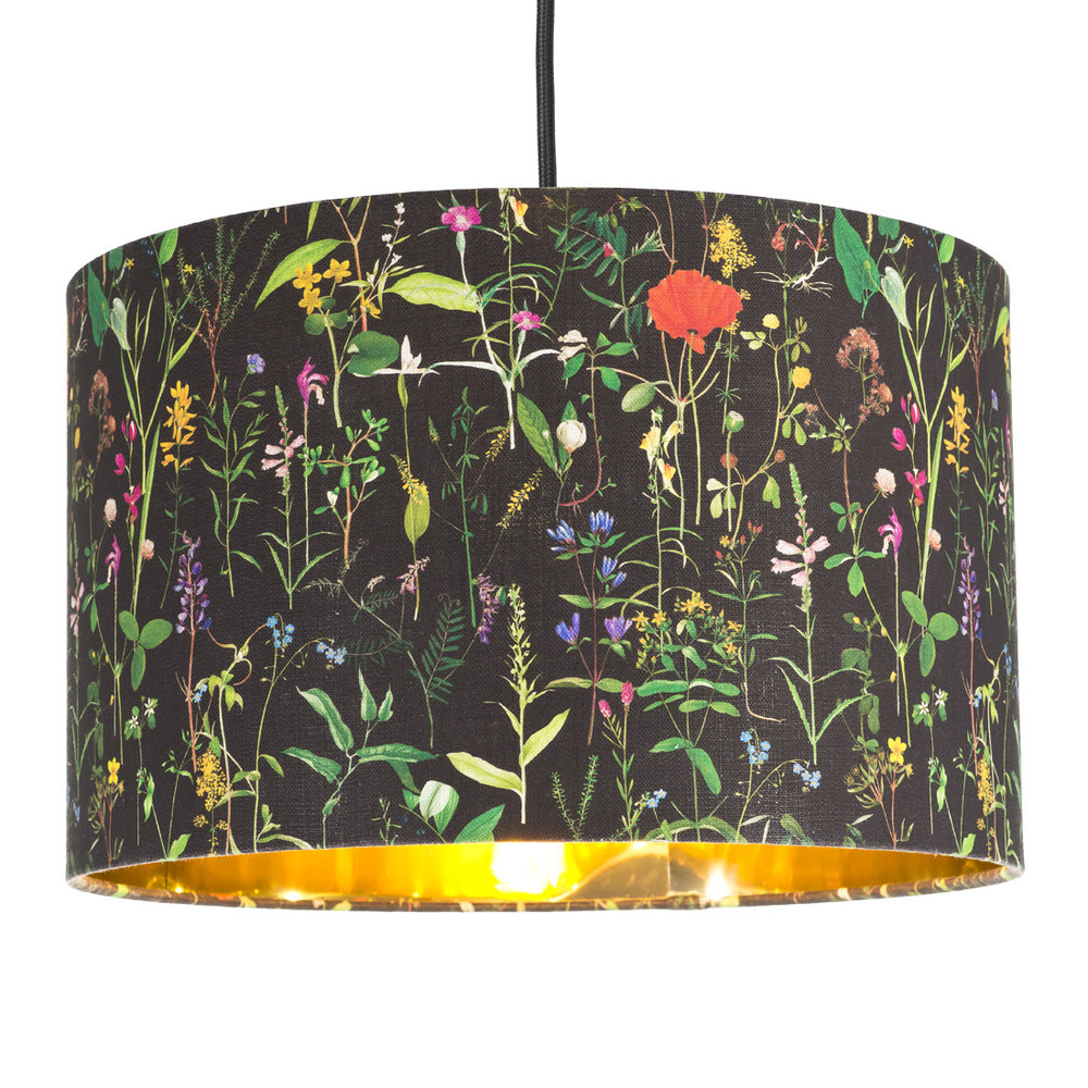 MINDTHEGAP - Aquafleur Anthracite Drum Ceiling Light - Small