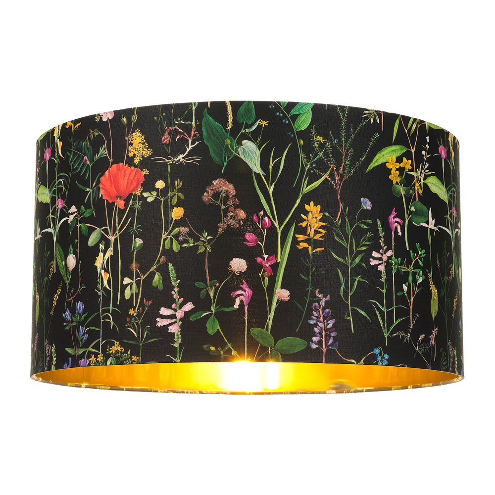 MINDTHEGAP - Aquafleur Anthracite Drum Lamp Shade - Large