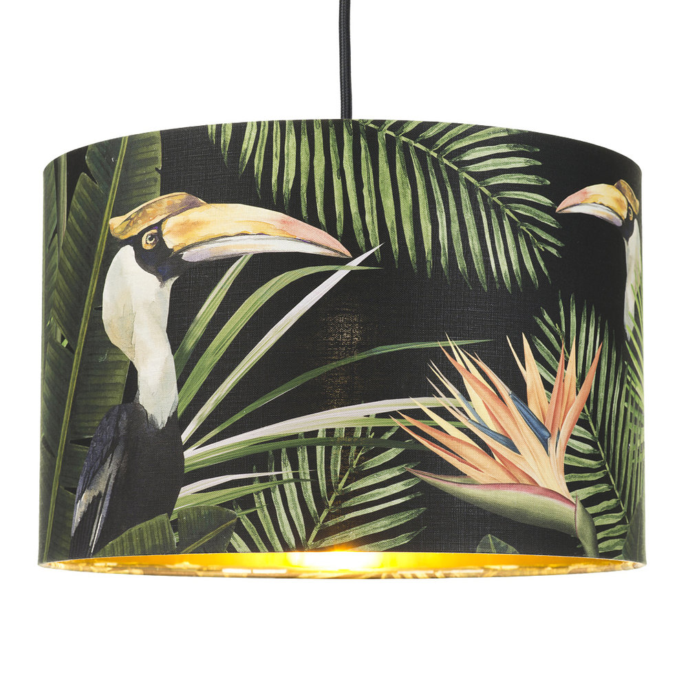 MINDTHEGAP - Birds of Paradise Drum Ceiling Light - Small