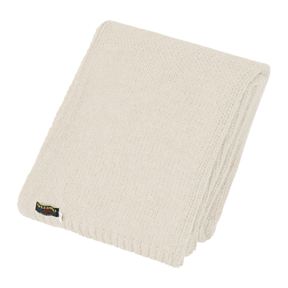 Tweedmill - Knitted Alpaca Throw - Cream