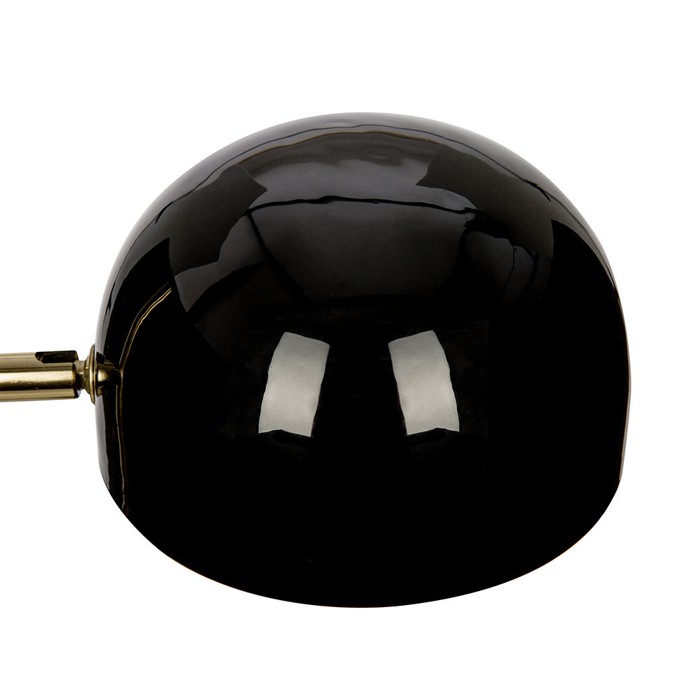 A by Amara - Black & Gold Domed Table Lamp