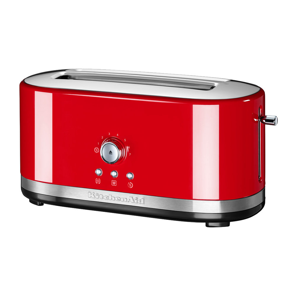 Manual Control Long Slot Toaster 4 Slot Empire Red