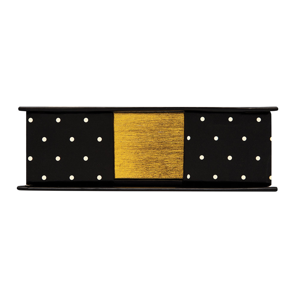 kate spade new york - Black Dot Loose Note Holder with Pen