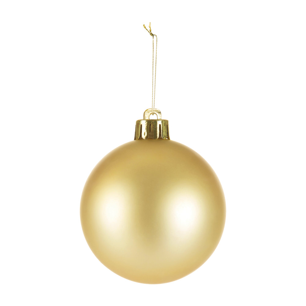 A by AMARA Christmas - Set of 33 Assorted Baubles and Tree Topper - Light Gold