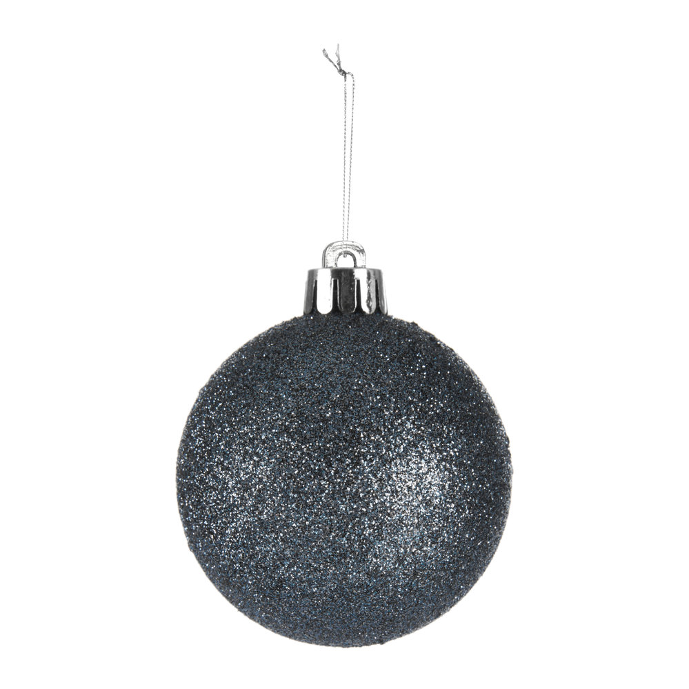 A by AMARA Christmas - Set of 33 Assorted Baubles and Tree Topper - Night Blue