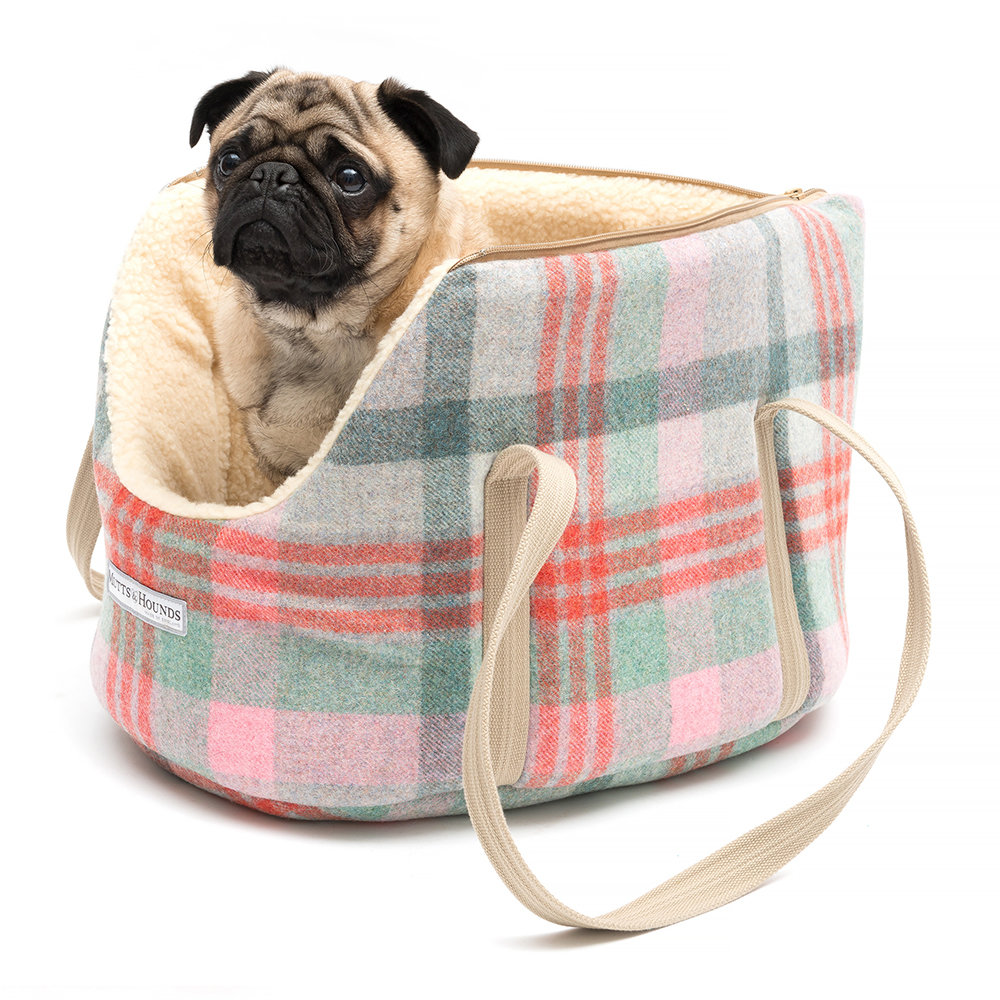 Mutts & Hounds - Macaroon Tweed Dog Carrier - Medium